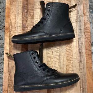 "Dr. Martens black leather size 7 ""Leyton"" boots/shoes"